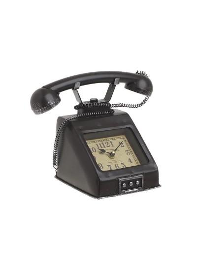 """INART Επιτραπέζιο Μεταλλικό Ρολόι """"Τηλέφωνο"""" Κωδικός: 3-20-977-0264 Διαστάσεις: 26Χ15Χ20 Εκατοστά"""