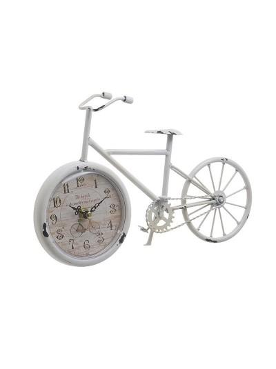"INART Επιτραπέζιο Ρολόι Μεταλλικό ""Ποδήλατο"" Λευκό Κωδικός: 3-20-977-0266 Διαστάσεις: 29Χ6Χ19 Εκατοστά"
