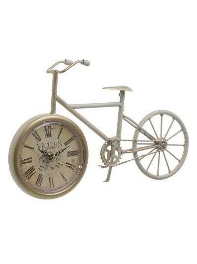 "INART Επιτραπέζιο Ρολόι Μεταλλικό ""Ποδήλατο"" Εκρού Κωδικός: 3-20-977-0267 Διαστάσεις: 29Χ6Χ19 Εκατοστά"