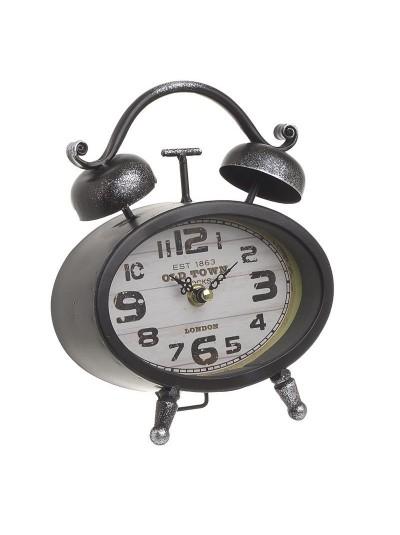 INART Επιτραπέζιο Ρολόι Μεταλλικό Μαύρο Κωδικός: 3-20-977-0269 Διαστάσεις: 16Χ6Χ20 Εκατοστά