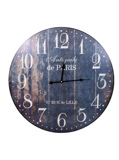"""FYLLIANA Ξύλινο Ρολόι Τοίχου """"Paris"""" Κωδικός: 125-92-323 Διάμετρος: 60 Εκατοστά"""