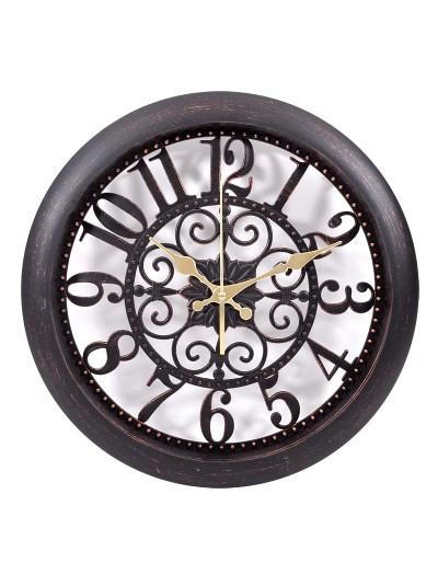 Ρολόι Τοίχου Kαφέ Αντικέ FYLLIANA Κωδικός: 260-27-075 Διαστάσεις: 35.5 Εκατοστά
