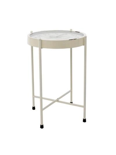 INART Τραπέζι/Ρολόι Μεταλλικό Λευκό Κωδικός: 3-50-773-0016 Διαστάσεις: 52Χ52Χ72,5 Εκατοστά