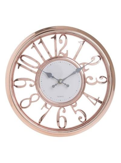 INART Πλαστικό Ρολόι Τοίχου Μπρονζέ Κωδικός; 3-20-284-0133 Διαστάσεις; 30.5Χ4 Εκατοστά