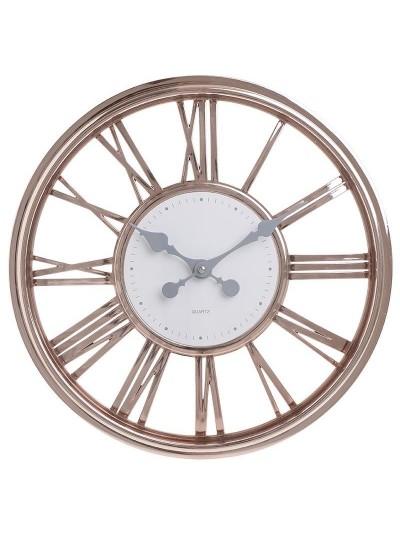 INART Πλαστικό Ρολόι Τοίχου Μπρονζέ/Λευκό Κωδικός: 3-20-284-0136 Διαστάσεις: 40,5Χ4 Εκατοστά