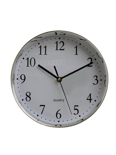 INART Ρολόι Τοίχου Πλαστικό Ασημί/Λευκό Κωδικός: 3-20-385-0043 Διαστάσεις: 25,5Χ5,5 Εκατοστά