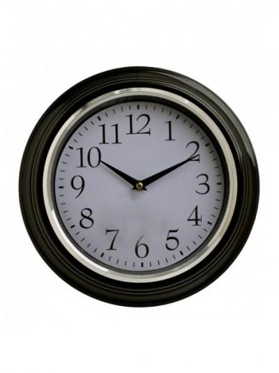 INART Ρολόι Τοίχου Πλαστικό Μαύρο/Λευκό Κωδικός: 3-20-385-0054