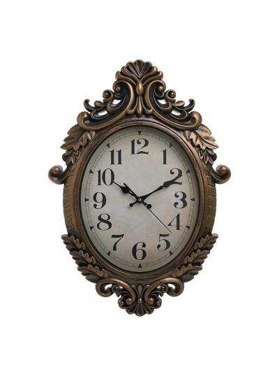 INART Ρολόι Τοίχου Πλαστικό Χρυσό Διαστάσεις 44Χ62εκ. Κωδικός: 3-20-385-0079