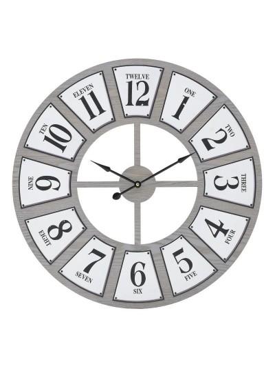 INART Ρολόι Τοίχου Ξύλινο/Μεταλλικό Φ60 Κωδ.: 3-20-463-0036