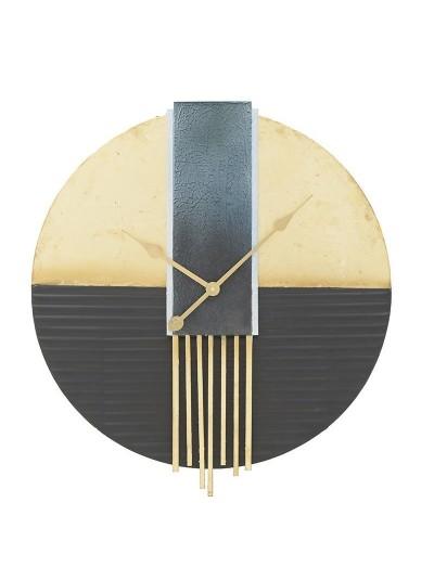 INART Μεταλλικό Ρολόι Τοίχου Μαύρο/Χρυσό Κωδικός: 3-20-465-0001 Διαστάσεις: 61Χ6 Εκατοστά