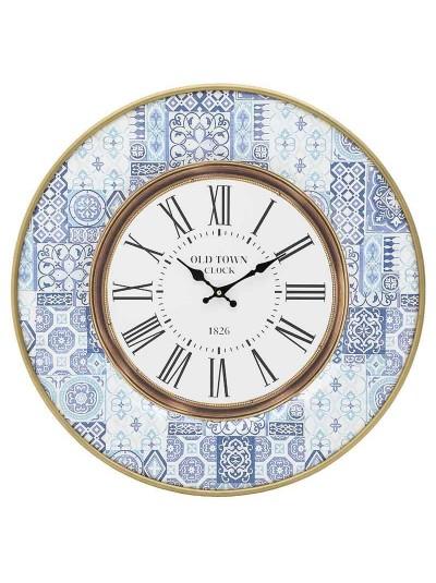 ΙΝΑΡΤ Ρολόι Τοίχου Μεταλλικο/Ξύλινο Μπλε/Λευκό Κωδικός: 3-20-484-0448 Διαστάσεις: 36Χ5 Εκατοστά
