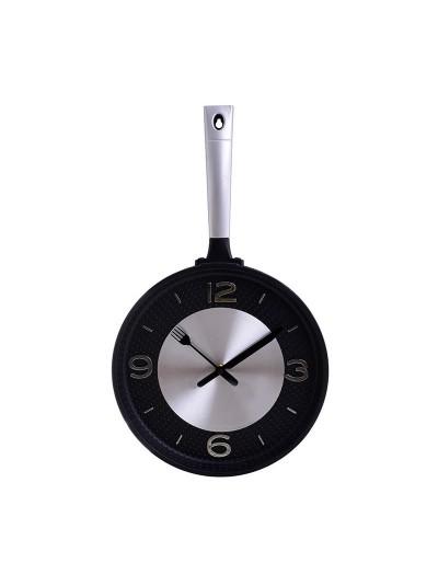 """ΙΝΑΡΤ Πλαστικό Ρολόι Τοίχου """"Τηγάνι"""" Κωδικός: 3-20-506-0002 Διαστάσεις: 25Χ4 Εκατοστά"""