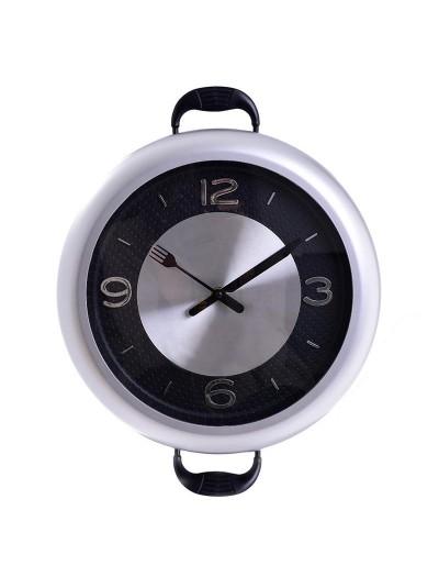 """INART Πλαστικό Ρολόι Τοίχου """"Κατσαρόλα"""" Κωδικός: 3-20-506-0003 Διαστάσεις: 30Χ3,5 Εκατοστά"""