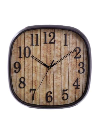INART Πλαστικό Ρολόι Τοίχου Τετράγωνο Μαύρο Κωδικός: 3-20-506-0004 Διαστάσεις: 30Χ3,5 Εκατοστά