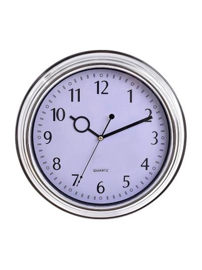 INART Πλαστικό Ρολόι Τοίχου Ασημί/Λευκό Κωδικός; 3-20-506-0007 Διαστάσεις: 30Χ4,5 Εκατοστά