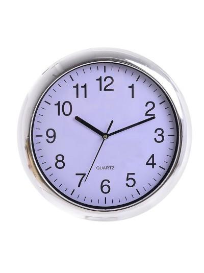 INART Πλαστικό Ρολόι Τοίχου Ασημί/Λευκό Κωδικός: 3-20-506-0008 Διαστάσεις: 27Χ4 Εκατοστά
