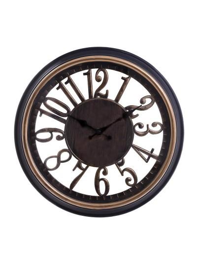 INART Πλαστικό Ρολόι Τοίχου Μαύρο/Χρυσό Κωδικός: 3-20-506-0010 Διαστάσεις: 33,5Χ4,5 Εκατοστά