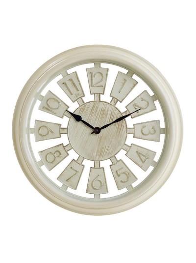 INART Πλαστικό Ρολόι Τοίχου Αντικέ Εκρού Κωδικός: 3-20-506-0011 Διαστάσεις: 33,5Χ4,5 Εκατοστά