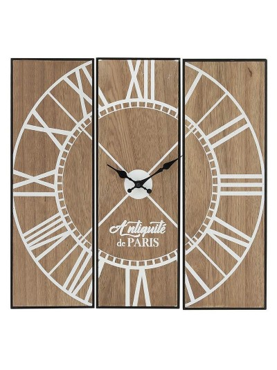 INART Ξύλινο Ρολόι Τοίχου Τετράγωνο Natural Κωδικός: 3-20-768-0009 Διαστάσεις: 45Χ2Χ45 Εκατοστά