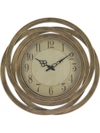 Ρολόι Τοίχου Πλαστικό INART Αντικέ Χρυσό Κωδικός: 3-20-828-0064 Διαστάσεις: 51 Εκατοστά