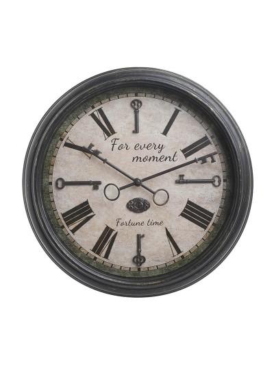 Ρολόι Τοίχου INART Mαύρο/Εκρού Κωδικός: 3-20-828-0101 Διαστάσεις: 40Χ5.5 Εκατοστά