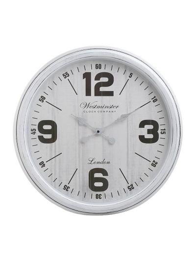 INART Πλαστικό Ρολόι Τοίχου Λευκό Κωδικός: 3-20-864-0095 Διαστάσεις: 51Χ5 Εκατοστά