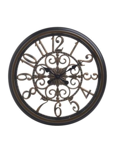 INART Ρολόι Τοίχου Πλαστικό Αντικέ Χρυσό/Μαύρο Κωδικός: 3-20-864-0106 Διαστάσεις: 46Χ46Χ4 Εκατοστά