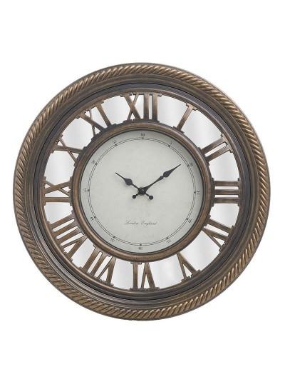 INART Πλαστικό Ρολόι Τοίχου Με Καθρέπτη Αντικέ Χρυσό/Εκρού Κωδικός: 3-20-864-0107 Διαστάσεις: 40Χ4 Εκατοστά