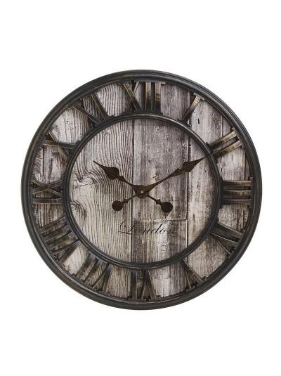 INART Πλαστικό Ρολόι Τοίχου Μαύρο Αντικέ Κωδικός: 3-20-864-0109 Διαστάσεις: 41Χ4 Εκατοστά