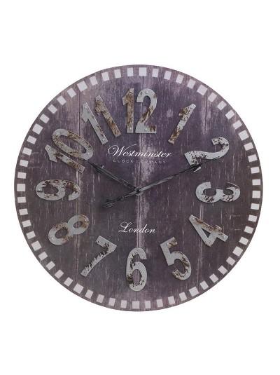 INART Πλαστικό Ρολόι Τοίχου Αντικέ Μαύρο Κωδικός: 3-20-864-0110 Διαστάσεις: 46Χ4 Εκατοστά