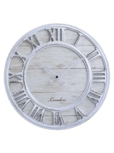 INART Πλαστικό Ρολόι Τοίχου Αντικέ Λευκό Κωδικός: 3-20-864-0111 Διαστάσεις: 33Χ4 Εκατοστά