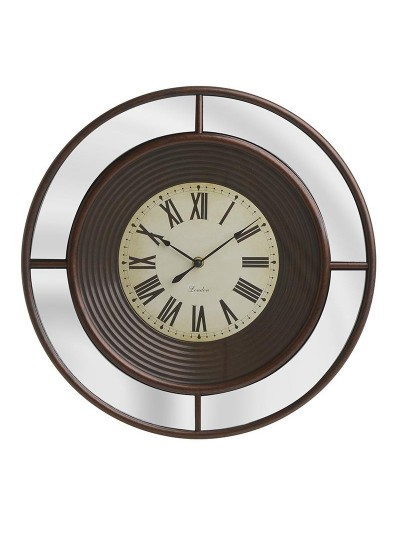INART Πλαστικό Ρολόι Τοίχου Με Καθρέπτη Αντικέ Μπρονζέ Κωδικός: 3-20-864-0114 Διαστάσεις: 41Χ4 Εκατοστά