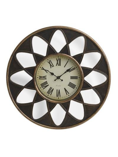 INART Πλαστικό Ρολόι Τοίχου Με Καθρέπτη Αντικέ Χρυσό Κωδικός: 3-20-864-0115 Διαστάσεις: 40Χ4 Εκατοστά