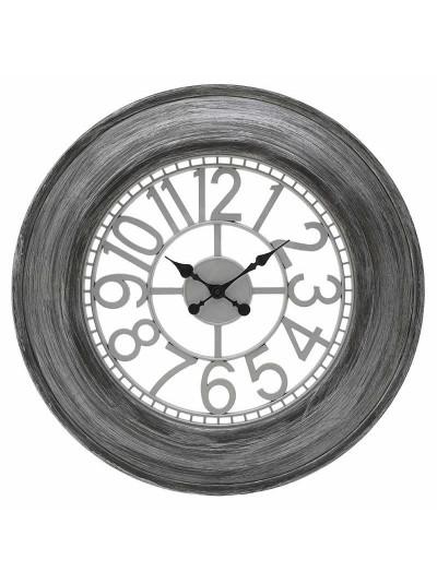 INART Πλαστικό Ρολόι Τοίχου Γκρι/Ασημί Κωδικός: 3-20-925-0014 Διαστάσεις: 65Χ5 Εκατοστά