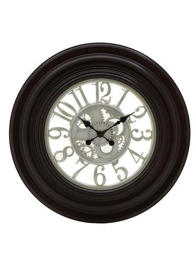 INART Πλαστικό Ρολόι Τοίχου Καφέ Σκούρο Κωδικός: 3-20-925-0015 Διαστάσεις: 75Χ5 Εκατοστά