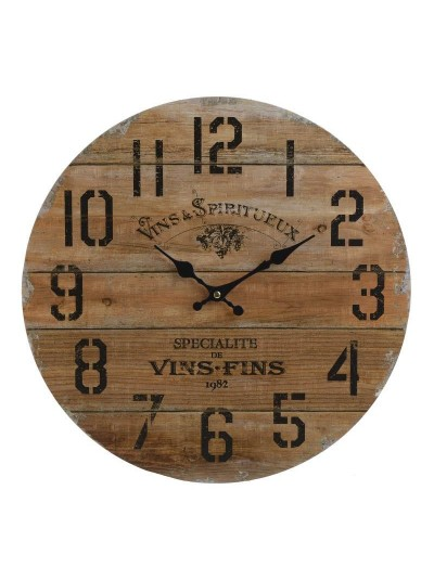 INART Ξύλινο Ρολόι Τοίχου Natural Κωδικός: 3-20-977-0256 Διαστάσεις: 40Χ3 Εκατοστά