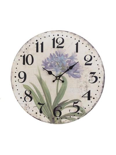 "INART Ξύλινο Ρολόι Τοίχου ""Λουλούδι"" Κωδικός: 3-20-977-0260 Διαστάσεις: 34Χ4 Εκατοστά"