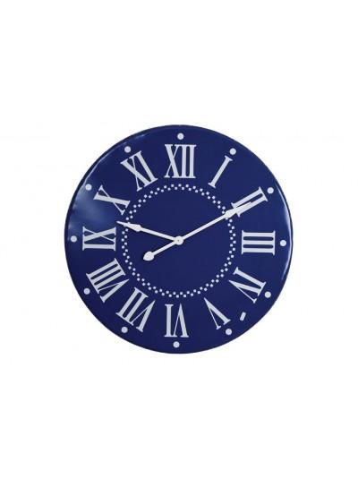 Μεταλλικό Ρολόι Τοίχου Μπλε Χρώμα 92 Εκατοστά