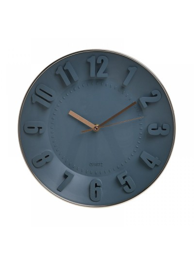 INART Ρολόι Τοίχου Πλαστικό Γκρι/Χρυσό Φ29 Κωδ: 6-20-284-0001