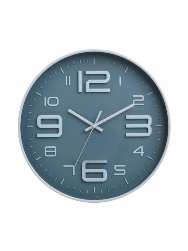 INART Ρολόι Τοίχου Πλαστικό Γκρι/Λευκό Φ30 Κωδ: 6-20-284-0006