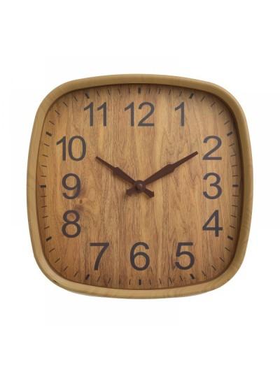INART Ρολόι Τοίχου Πλαστικό Natural 30χ30χ3εκ. Κωδ: 6-20-284-0009