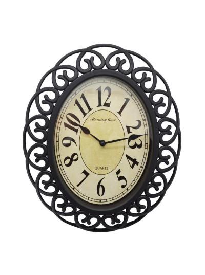 Πλαστικό Ρολόι Αντικέ Οβάλ ANKOR Κωδικός: 790531 Διαστάσεις: 30Χ25Χ4 Εκατοστά