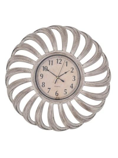Ρολόι Πλαστικό Γκρι/Μπεζ με Γυαλι και Αθόρυβο Μηχανισμό ANKOR Κωδικός: 795864 Διαστάσεις: 51 Εκατοστά