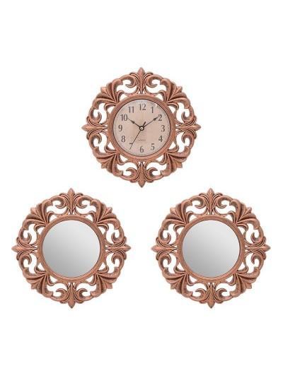 INART Σετ Ρολόι Τοίχου με Δύο Καθρέπτες Κωδικός: 3-20-284-0126