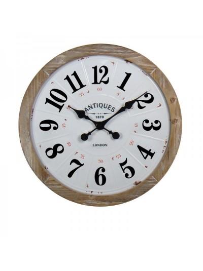 Μεταλλικό Ρολόι Τοίχου Αντικέ Μπεζ ORIANA FERELLI Κωδικός:  XY19005551 Διάμετρος: 51 Εκατοστά