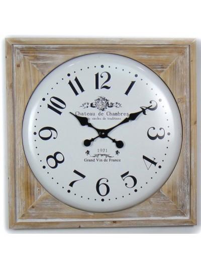 Ρολόι Τοίχου MDF Αντικέ Μπεζ ORIANA FERELLI Κωδικός: XY19021975 Διάμετρος: 75 Εκατοστά