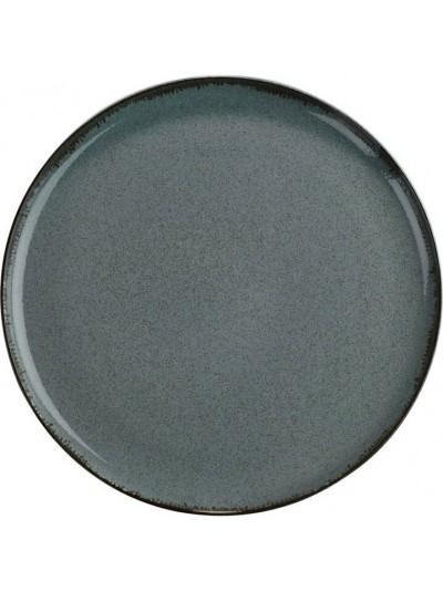 Pearl Mood Ρηχό Πιάτο Φαγητού Πορσελάνης Μπλε 24εκ - KXMOD11024