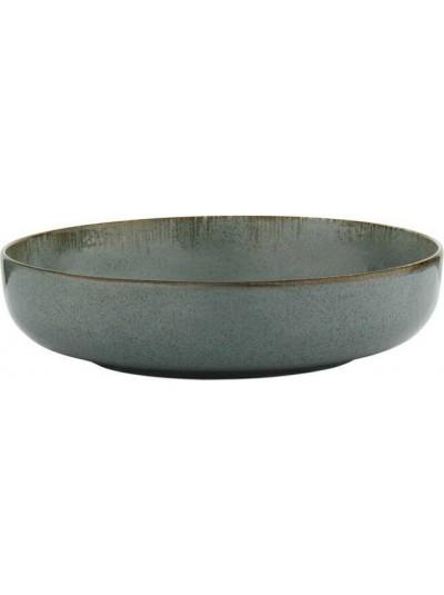 Pearl Mood Βαθύ Πιάτο Φαγητού Πορσελάνης Μπλε 20εκ - KXMOD12024