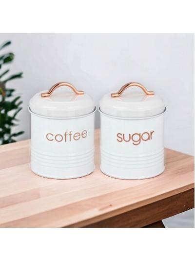 INART Δοχείο Καφέ/Ζάχαρης Σετ Των 2 Κωδικός: 6-60-373-0002 Διαστάσεις: 11Χ11Χ15 Εκατοστά
