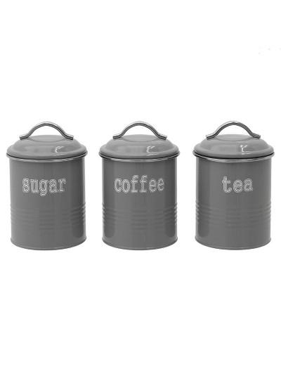 INART Δοχείο Καφέ/Ζάχαρης/Τσαγιού Σετ Των 3 Κωδικός: 6-60-373-0003